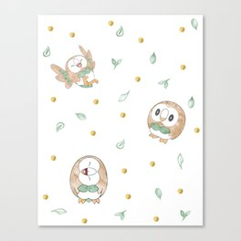 Faces of Rowlet Canvas Print