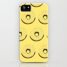 Yellow donuts iPhone Case