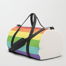 Retro Rainbow Pride Duffle Bag