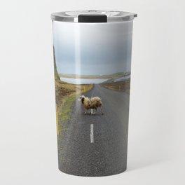 Sheep Crossing in Iceland Travel Mug