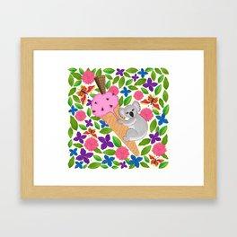 Koala Bear in Summer Framed Art Print