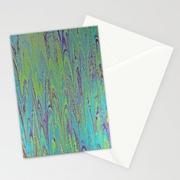 Icarus Palm Water Marbling Stationery Cards