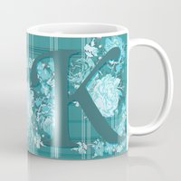 karen hallion Mugs featuring K is for Kimberly, Karen, Kaitlin, Karla, Kandace, Karinya, Kassandra, Kamilla by Luscious Life Studios