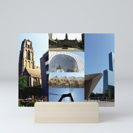 Photo collage Rotterdam 1 Mini Art Print
