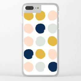 Dot minimal trendy color palette gold silver metallic minimal home decor Clear iPhone Case