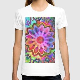 Rainbow Flower Pink T-shirt