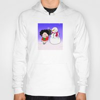 snowman Hoodies featuring Snowman by Afro Pig