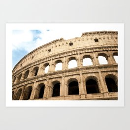 The Colosseum, Rome, Italy. Art Print