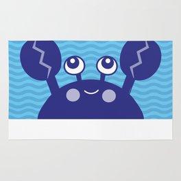 Blue Crabby Crab Rug