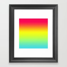 Red Yellow Blue Gradient Framed Art Print