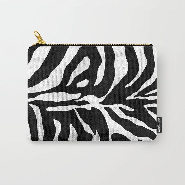 Black and white Zebra Stripes Design Carry-All Pouch