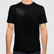 Grey - tryout MEDIUM Black Mens Fitted Tee