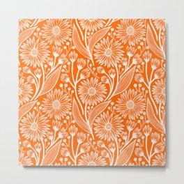 Marmalade Coneflowers Metal Print
