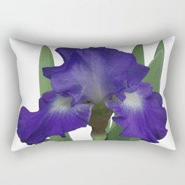 Stellar Lights, Deep blue-violet Iris Rectangular Pillow