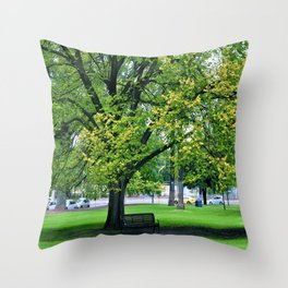 A Little Town Square, Melbourne Throw Pillow