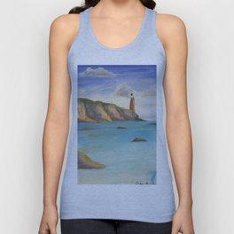 ocean cliff Unisex Tank Top
