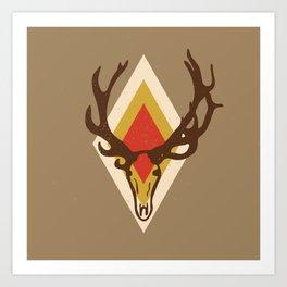 Stag Head Art Print