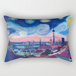 Starry Night in Berlin - Van Gogh Inspirations in Germany with Skyline Rectangular Pillow