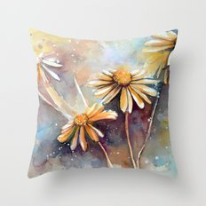 Purple Dream Garden, watercolor explorations Throw Pillow