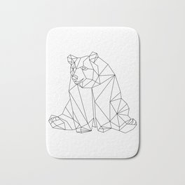 Geometric Bear Bath Mat