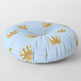 Louis Blue Gold Crown Prince of Cambridge Floor Pillow