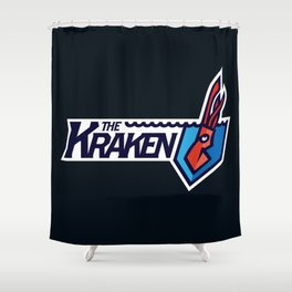 The Kraken Full Logo Shower Curtain