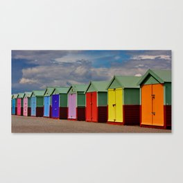 Hove Beach Huts Canvas Print