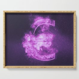 Euro sign, Euro Symbol. Monetary currency symbol. Abstract night sky background. Serving Tray