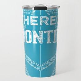 Ethereum Frontier (blue base) Travel Mug
