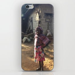 Zanzibar Bag Girl iPhone Skin