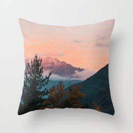 Andes Sunset Throw Pillow