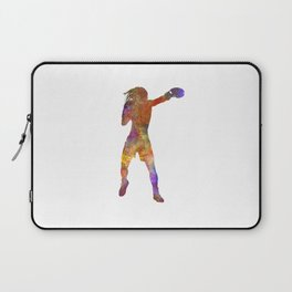 woman boxer boxing kickboxing silhouette isolated 03 Laptop Sleeve