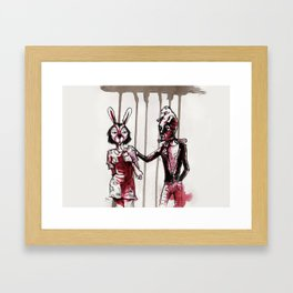 Fancy Dress Party - Fiests de Disfraces Framed Art Print