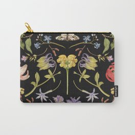 Wild flower blossomillustration hand drawn set, remix from The Model Book of Calligraphy Joris Hoefnagel and Georg Bocskay Carry-All Pouch