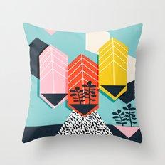 Legit - throwback 80s style memphis neon texture art print pop art dorm college hipster trendy urban Throw Pillow