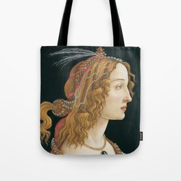 Sandro Botticelli, Idealized Portrait of a Lady, 1480 Tote Bag
