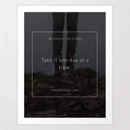 Recovery Tip #1 Art Print