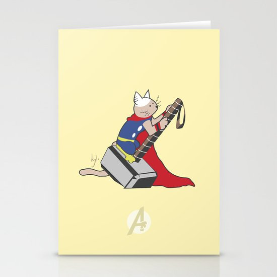 The Catty Thor Stationery Cards