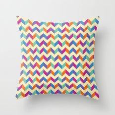 Coloured Chevron Throw Pillow