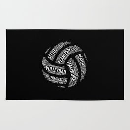 Volleyball Wordcloud - Gift Rug