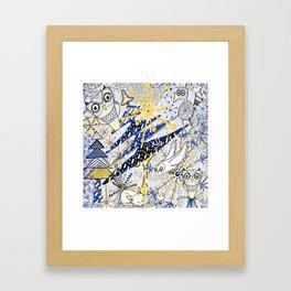 Winter Mod Limited Color Palette Framed Art Print