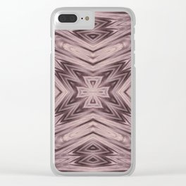 Seamless Kaleidoscope Colorful Pattern VIII Clear iPhone Case