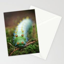 Green and Orange Cercropia Caterpillar Stationery Cards