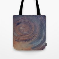 nasa Tote Bags featuring eye in the sky, eye in the desert (nasa #01) by _mackinac