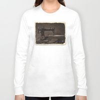 sewing Long Sleeve T-shirts featuring Pfaff Sewing Machine by Rainer Steinke