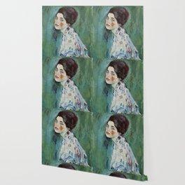 """Gustav Klimt """"Portrait of a lady"""" Wallpaper"""
