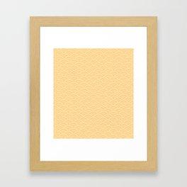 Japanese pattern yellow Framed Art Print