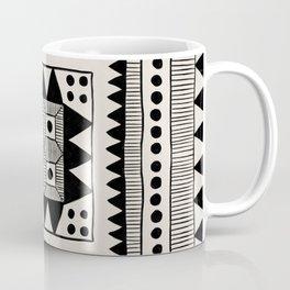 Black & White Symmetrical Pattern #1 Coffee Mug