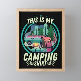This Is My Camping Shirt Hiking Outdoor Framed Mini Art Print