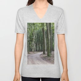 trees in national park in holland Unisex V-Neck